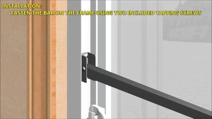 Adjustable Security Charley Bar For Sliding Glass Doors