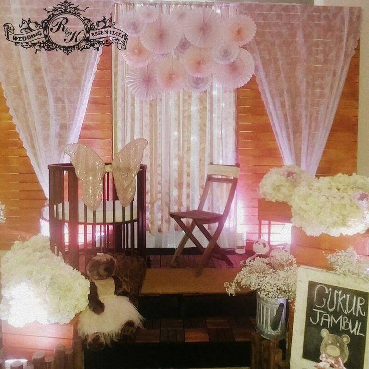 wedding reception photo booth singapore%0A Rustic pallet baby girl cukur jambul pelamin  dais  R u    K Wedding Essentials  Facebook   https