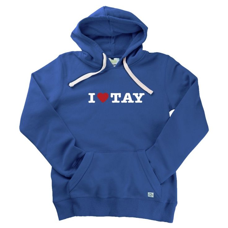 I Love Tay Gent's Hoodie by Hairy Baby