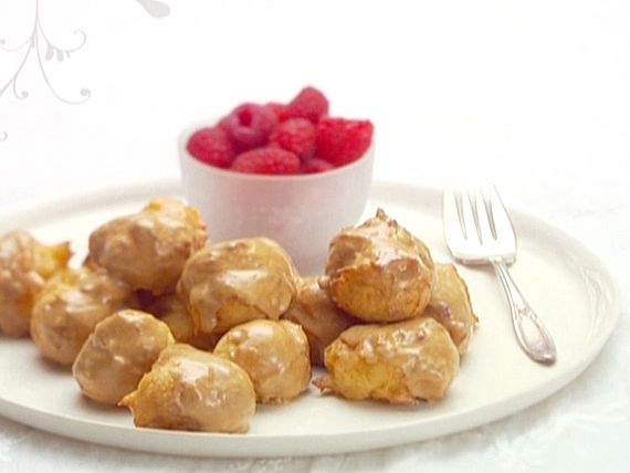 Coffee-Glazed Italian Doughnuts (Zeppole) Recipe : Giada De Laurentiis : Food Network - FoodNetwork.com