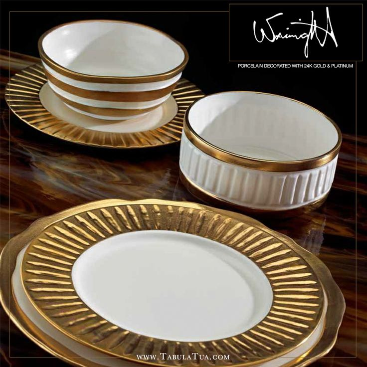 Handmade and hand-painted here in the USA with 24k gold and platinum, all of Michael Wainwright's luxurious dinnerware collections were inspired by Mediterranean lifestyles and Italian architecture. Escape from the everyday and let the vacation come to you this spring!