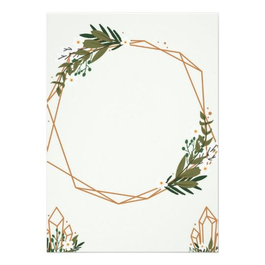 Geometric Frame With Bouquets