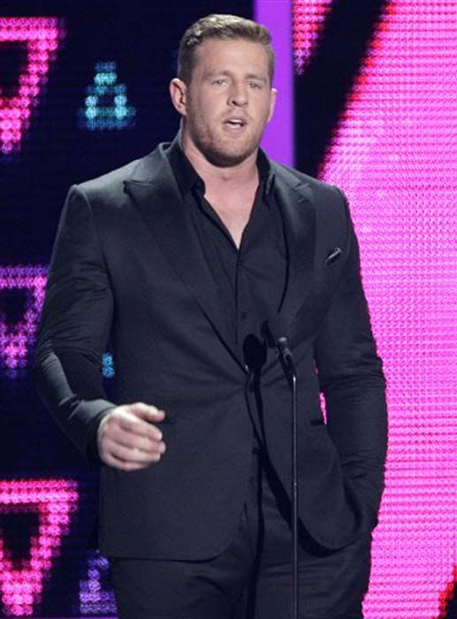 "<div class=""meta image-caption""><div class=""origin-logo origin-image none""><span>none</span></div><span class=""caption-text"">J.J. Watt speaks at the CMT Music Awards at the Bridgestone Arena on Wednesday, June 8, 2016, in Nashville, Tenn. (Wade Payne/Invision/AP)</span></div>"