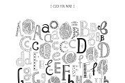 160 Hand drawn letters - by tatiletters | alphabet | drawing | abc