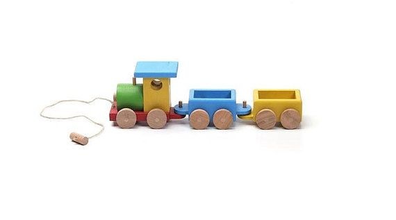 Wooden train wooden toys kids toys wood toy toddler by woodenplay
