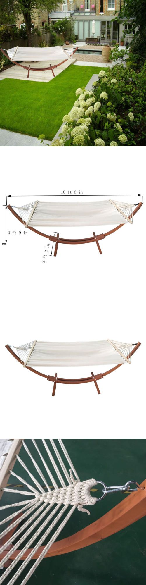 Hammocks 20719: 110 Wooden Curved Arc Hammock Stand W Hammocksize Outdoor Patio Garden Swing -> BUY IT NOW ONLY: $110 on eBay!