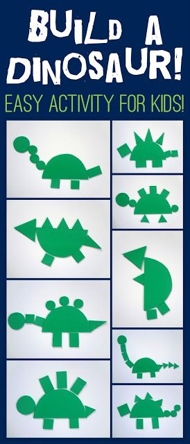 Incorporate shape-play into this dinosaur building activity