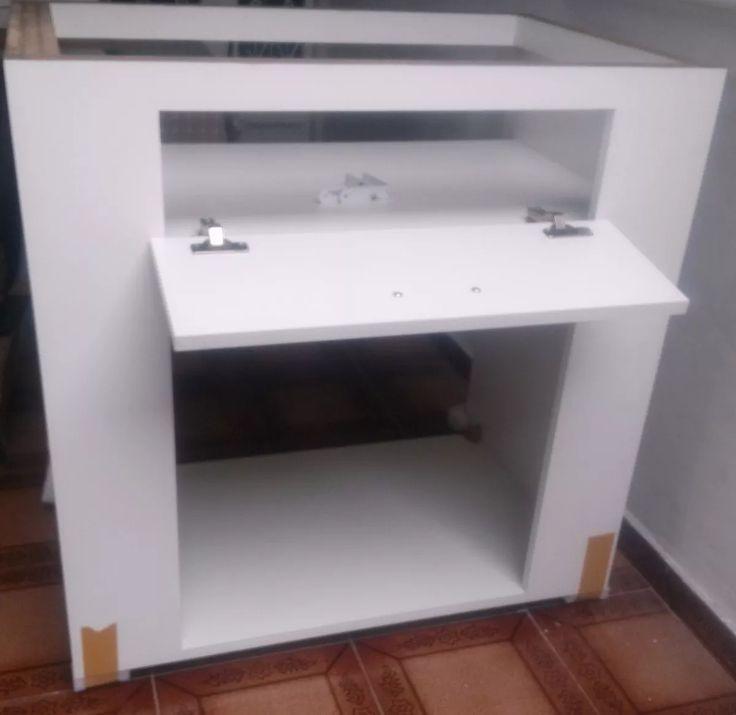 armário de cozinha mdf para imbutir forno elétrico e cooktop  Ideias para a  # Armario De Cozinha Planejado Com Cooktop