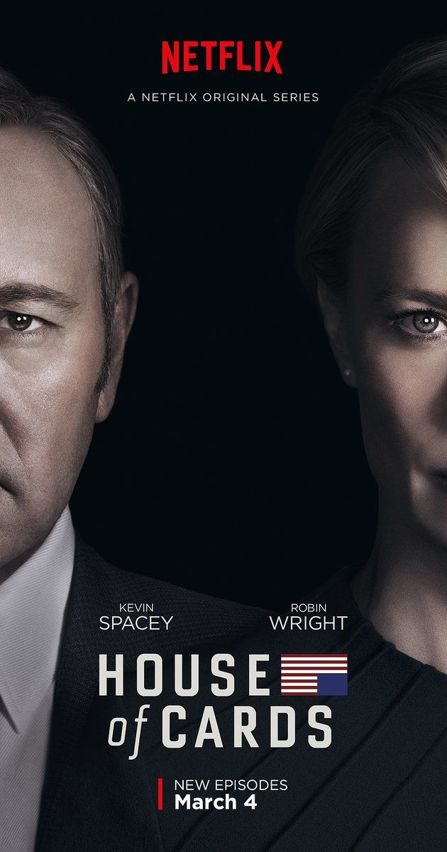 Created by Beau Willimon.  With Kevin Spacey, Michel Gill, Robin Wright, Kate Mara. A Congressman works with his equally convincing wife to exact revenge on the people who betrayed him.