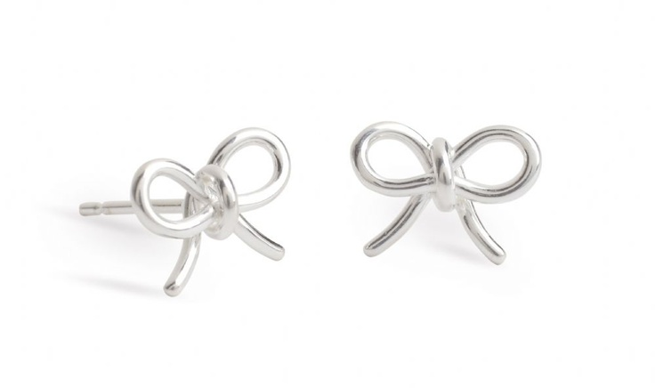 John Rocha Small Sterling Silver Bow Earrings with stud fastenings, simple and fun pendant. - new to our online shop!
