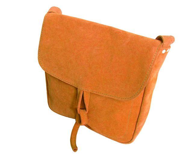 Ledertaschen - Tasche mit Kordel - hellbraun Wildleder A4 - ein Designerstück von CZAJKACZAJKA bei DaWanda