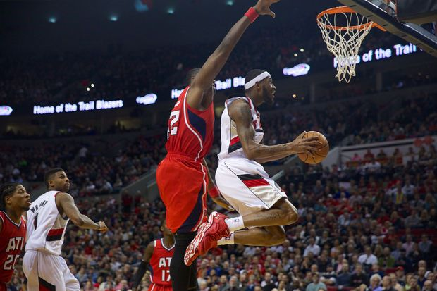March 5, 2014-- Will Barton made this play and brought the Moda Center to its feet Wednesday at the Moda Center in Portland as the Trail Blazers hosted the Atlanta Hawks.