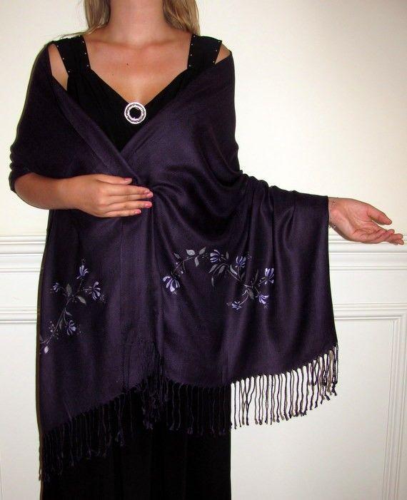 Black shawls for evening dress