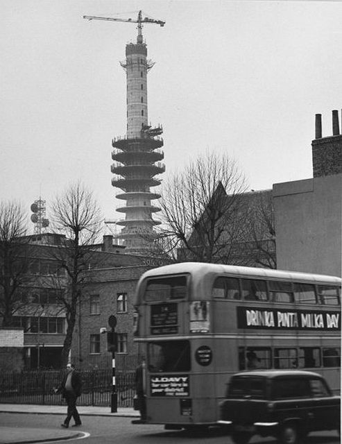 BT Tower, London, under construction, 1960s (TCB_346 T161) by Connected Earth on Flickr.