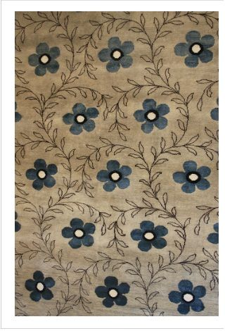 Luxurious Bloom design rugs  from Woven Treasures Rugs Melbourne  Designer Contemporary Collection hand knotted with finely hand spun New Zealand wool, design accented with artificial silk.