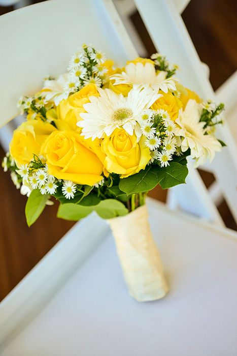 Gerbera, rose, & aster bouquet  (Flowers by Lee Forrest Design, photo by: Troy Ryan Photo)
