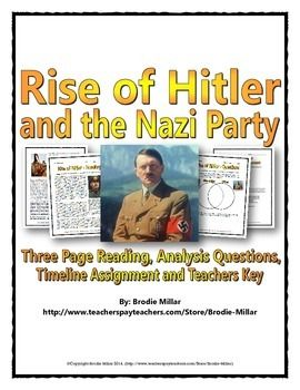 What is a good guiding question for someone who is writing a research paper on Hitler?