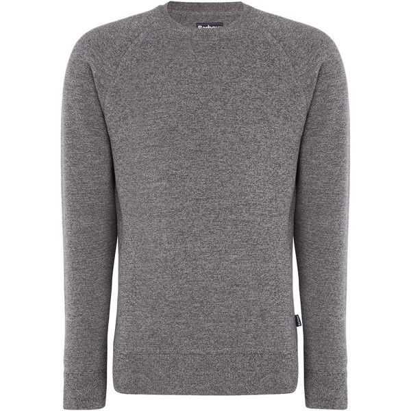 Barbour Becket Merino Crew Neck Jumper ($65) ❤ liked on Polyvore featuring men's fashion, men's clothing, men's sweaters, sale men knitwear, mens knitwear, mens merino jumper, mens merino sweater, mens crew neck sweaters and mens merino wool sweater