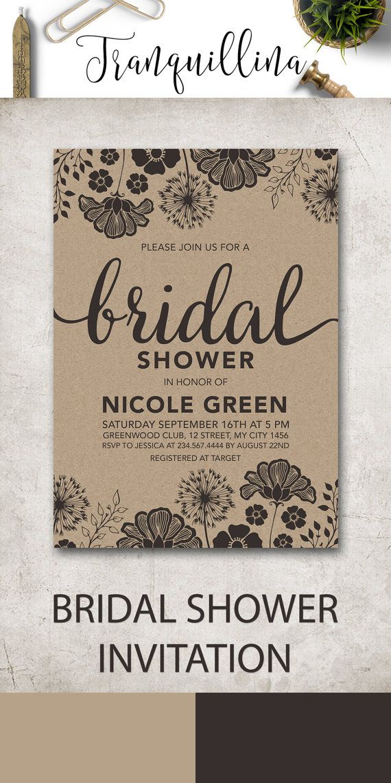 25 best ideas about rustic bridal shower invitations on