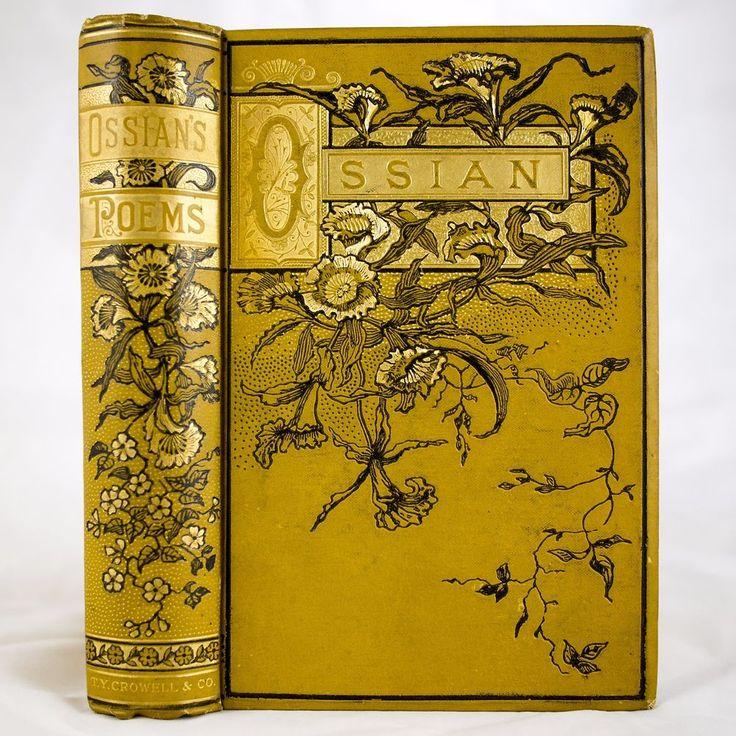 1885 OSSIAN POEMS JAMES MACPHERSON VICTORIAN FINE BINDING MYTHS FOLKLORE LEGENDS