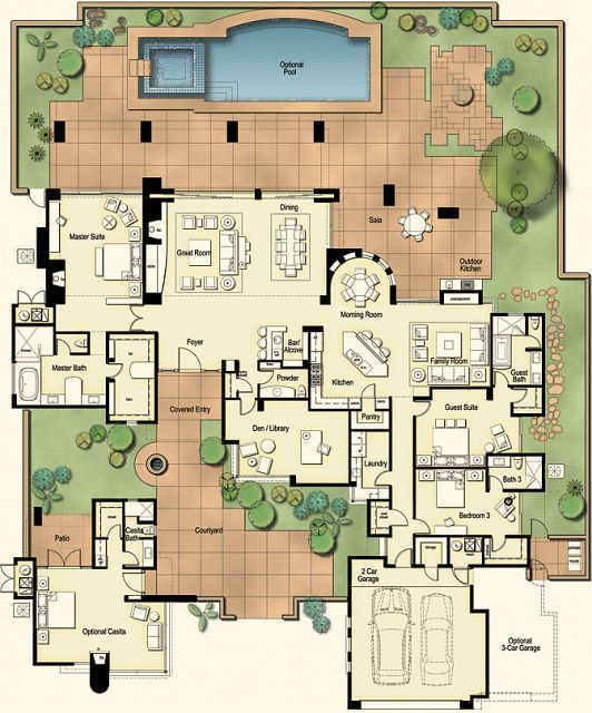 432 Best Images About Floor Plans On Pinterest House