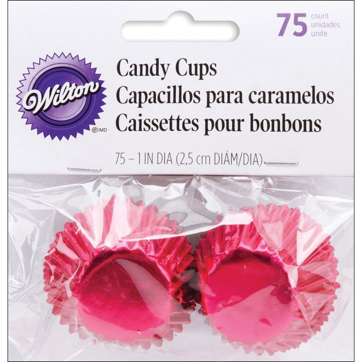 Wilton Candy Cups 1 75/Pkg-Red Foil - red foil