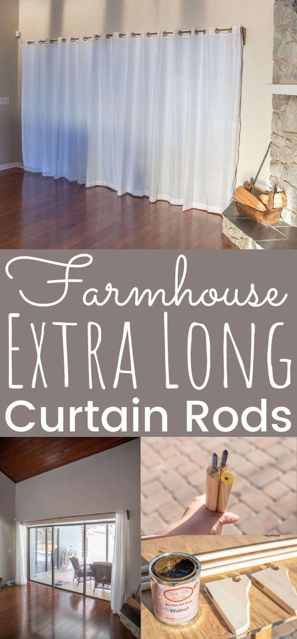 Farmhouse Diy Extra Long Curtain Rods Simply Today Life In 2020
