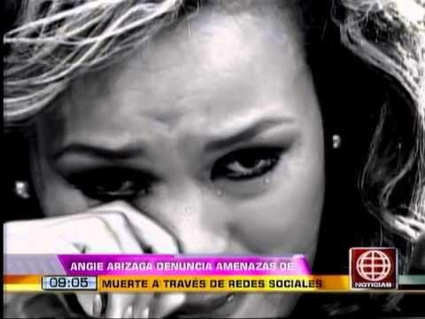 ¿Quién amenaza de muerte a Angie Arizaga?