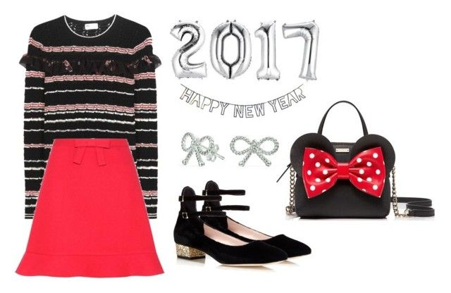 """happy new year *2"" by kryssicha on Polyvore featuring Kate Spade, Meri Meri, RED Valentino and Bling Jewelry"