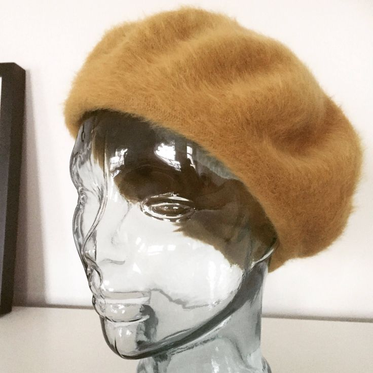 Kangol/beret/angora/wool/blend/carmel by WifinpoofVintage on Etsy