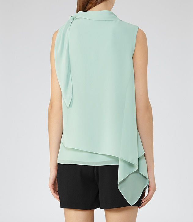 Womens Gem Tie-neck Top - Reiss Tris