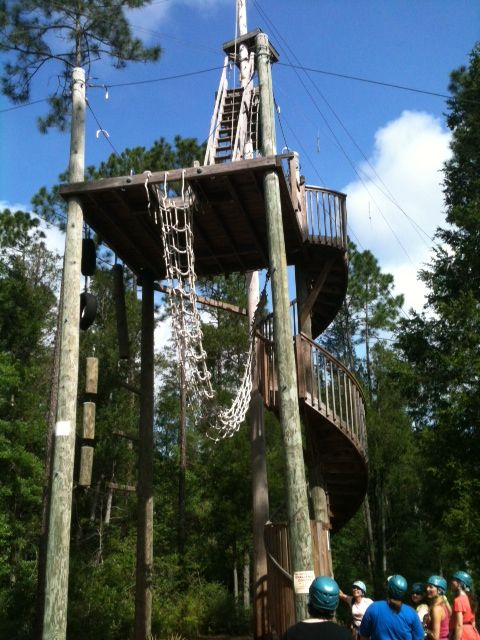 Ziplining in Pensacola, Florida Adventures Unlimited