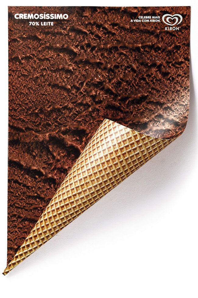 Kibon rolled ice cream #poster   Renata El Dib