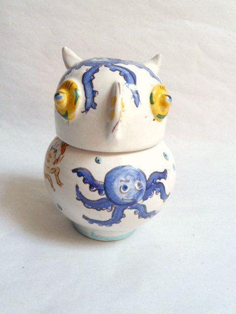 Owl jar. Gufo barattolo. di LabLiu su Etsy, €14.00