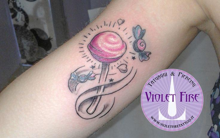 tatuaggio Lecca Lecca e Caramelle Old School su b by Violet-Fire ...