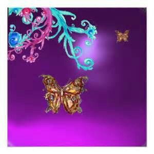 Butterfly images with colorful flowers
