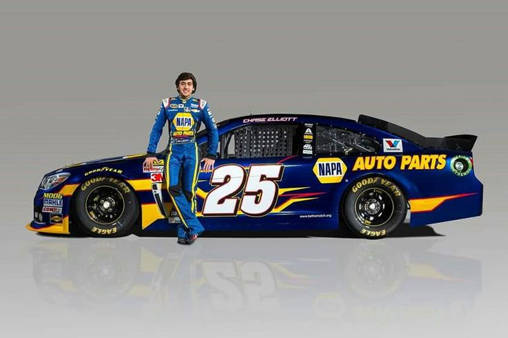 Chase Elliot and his #25 Cup car! March 2015