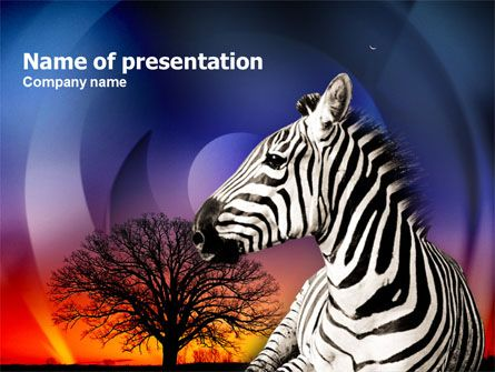 110 best free powerpoint templates images on pinterest nice powerpoint template with zebra on the savanna in sunset will be good choice for presentations toneelgroepblik Gallery