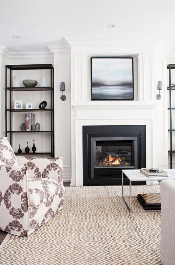 25 best ideas about black fireplace on pinterest black - Beautiful living rooms with fireplace ...