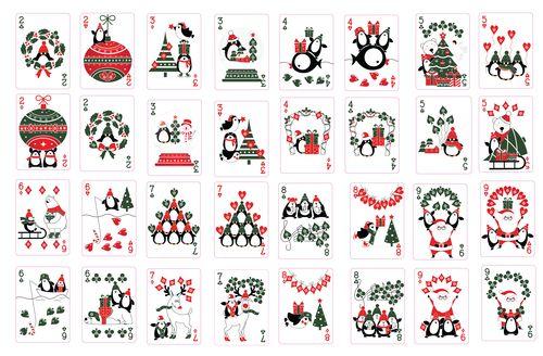 Christmas Playing Cards 2017 by Natalia Silva
