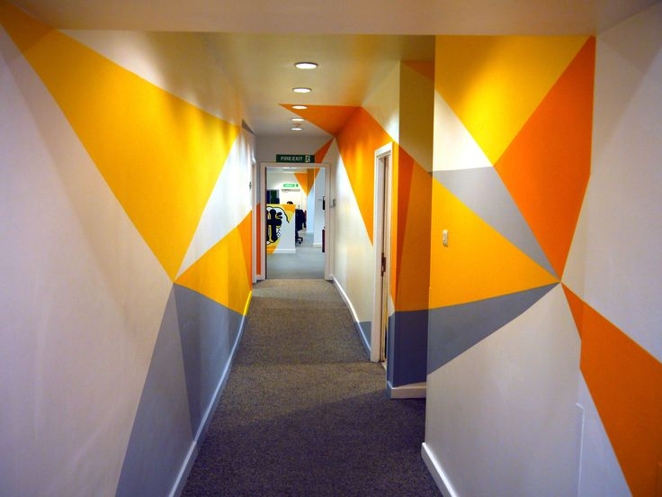 Hand-painted office murals for TBCH marketing office. office art, office graphics, office mural, large graphics, shapes, abstract pattern