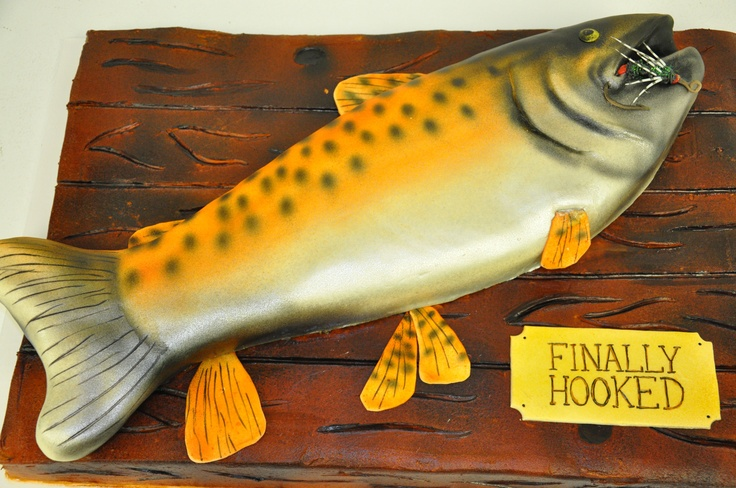 Fish Groom's Cake - Finally Hooked
