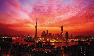 Shanghai Sunset China City
