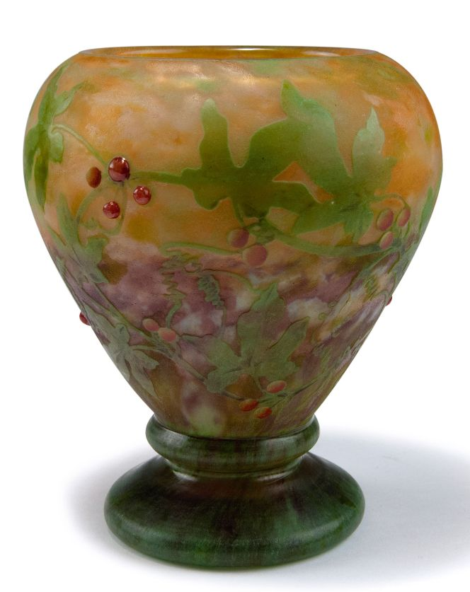 Bryone Vase 1909 H 16 8 Cm Cased Glass Clear Milk