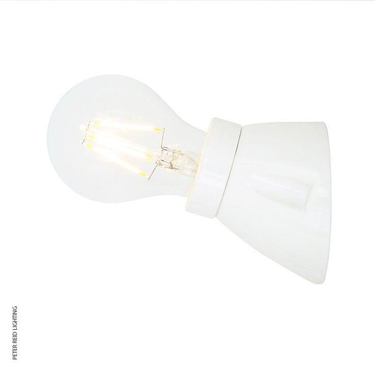 Baltimore Ceramic Wall Light White by Mullan Lighting @peterreidlighting #retrowalllight #contemporarywalllight