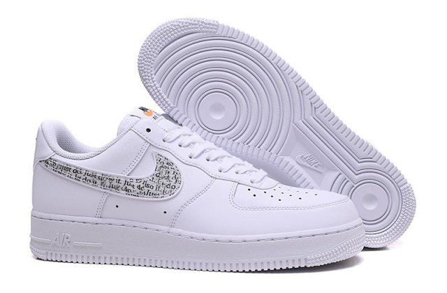 Unisex Nike Air Force 1 07 Just Do It Pack White Black Total