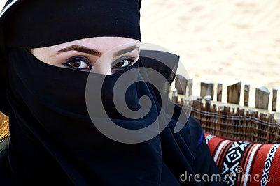 Beautiful Arab woman with Hijab.