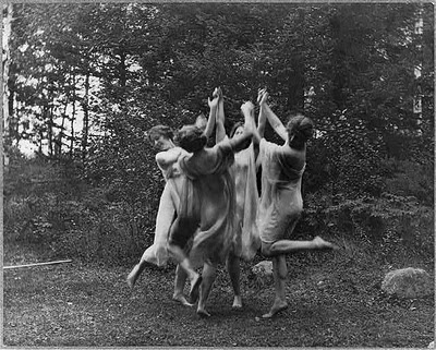 "The Ring: Circa 1915. ""Four dancing figures."" Gelatin silver print by the"