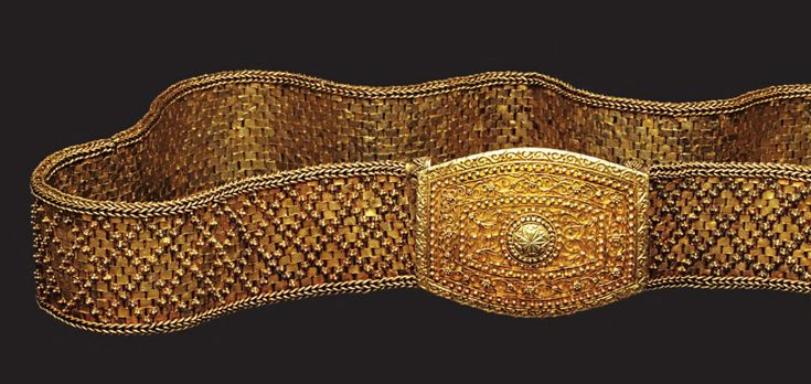 Indonesia ~ Aceh | Belt and buckle; gold | 19th - 20th century || Source: 'Gold Jewellery of the Indonesian Archipelago'; pg 462