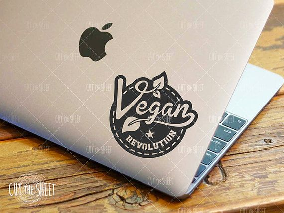 Vegan Revolution - Laptop Decal - Laptop Sticker - Car Decal - Car Sticker